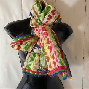 Anthropologie Erfurt Rainbow Wool Yarn Scarf